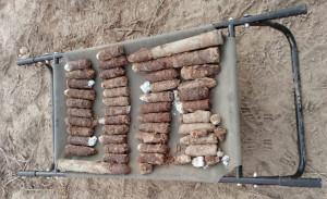 Na polu w miejscowości Lichty w gminie Czemierniki (woj. lubelskie) odnaleziono w sumie ponad 250 pocisków artyleryjskich