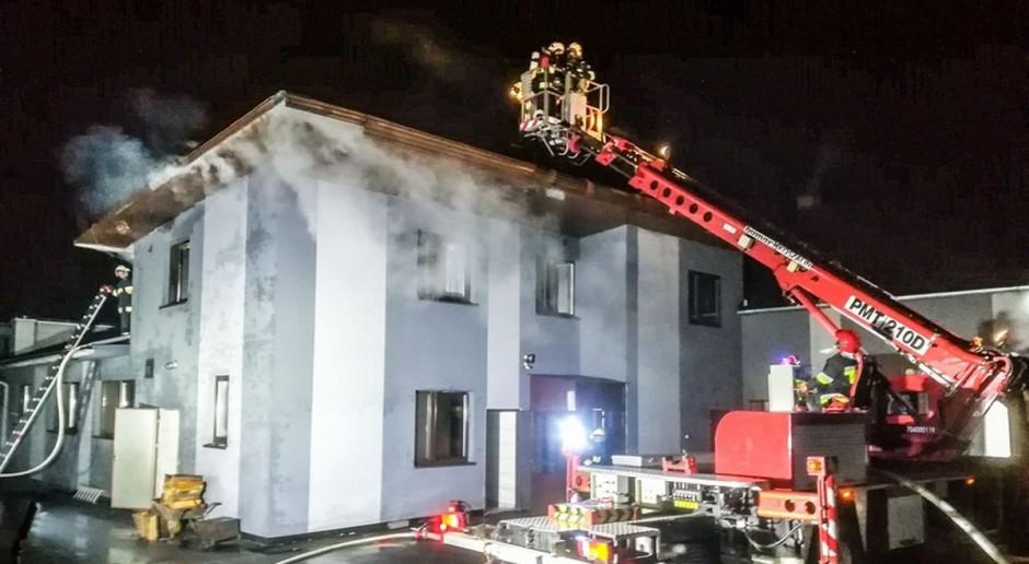 Pożar w masarni pod Olesnem