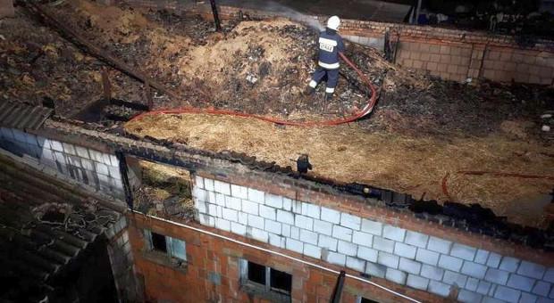Pożar obory w Wielkopolsce, bydło ocalało