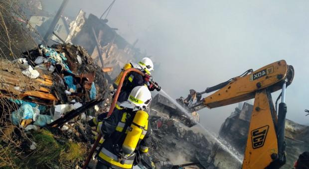 Pożar magazynu spożywczego na przedmieściach Zielonej Góry