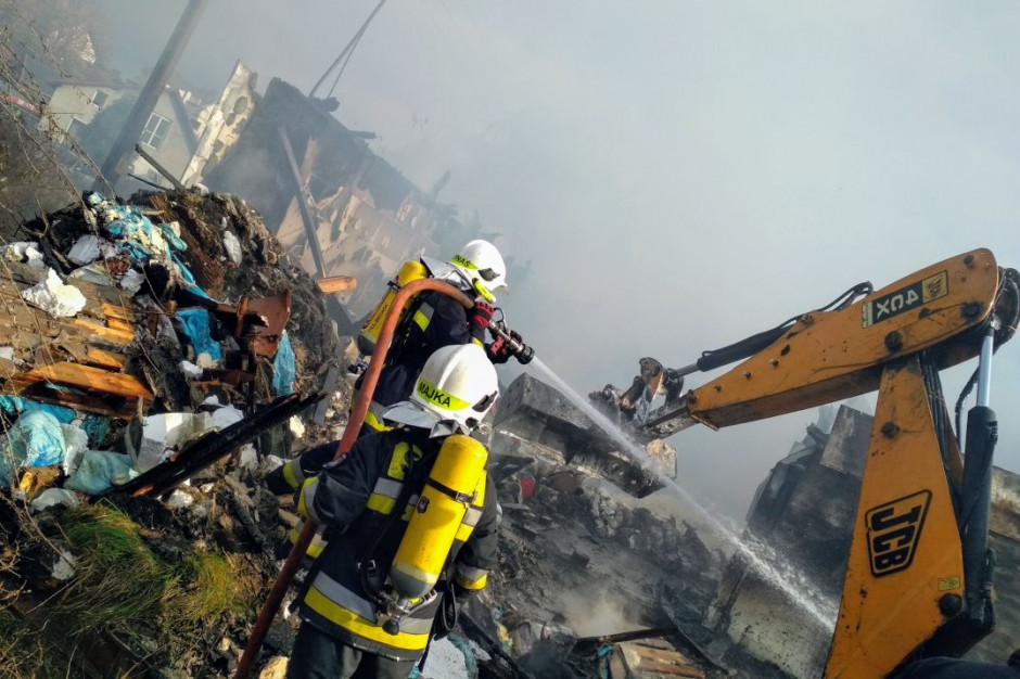 Akcja gaśnicza trwała kilkanaście godzin, Foto: PSP Zielona Góra