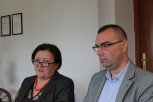 Wiera Pawluczuk – Prezes Zarządu OSM w Hajnówce i Patryk Duchna – Wiceprezes Zarządu
