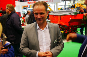 Jens Hille, sales manager w firmie Rauch podczas konferencji na Agritechnice, fot. mw