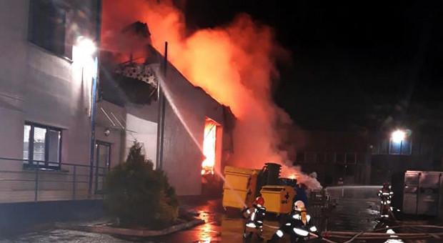 Pożar w zakładzie utylizacji odpadów koło Czechowic-Dziedzic