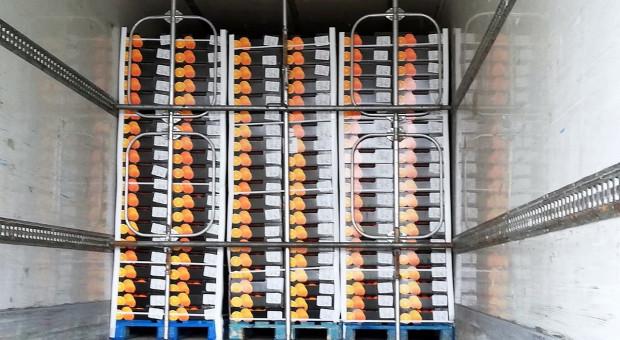Kumulacja pomarańczy w naczepie tira