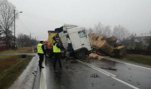 Droga krajowa nr 74 została na wiele godzin zablokowana