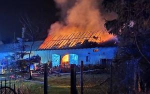 Ogień zauważono rankiem w Boże Narodzenie, Foto: OSP Wierzbno