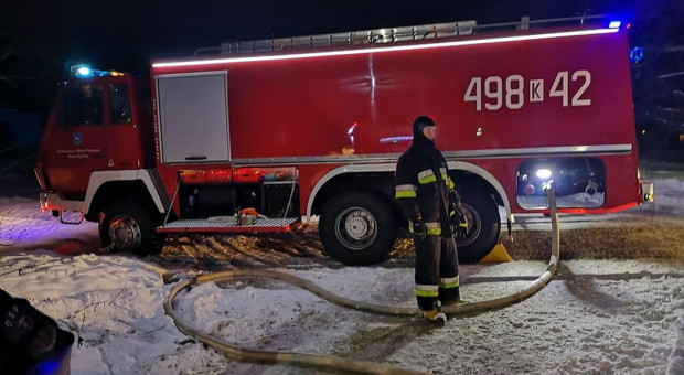 Pożar ubojni na Podhalu