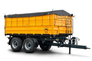 Wielton oferuje 10-tonowe przyczepy tandem zarówno w wariancie burtowym, jak i skorupowym. Te drugie polecane są przede wszystkim do transportu okopowych