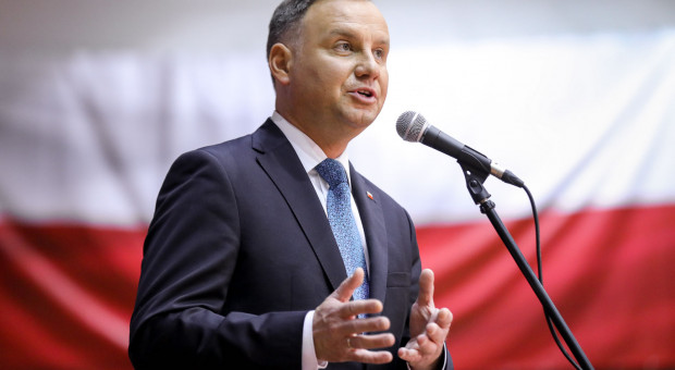 Andrzej Duda odwiedził targowisko w Dąbrowie Górniczej