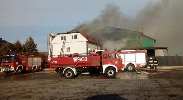 Pożar w zakładzie przetwórstwa chmielu