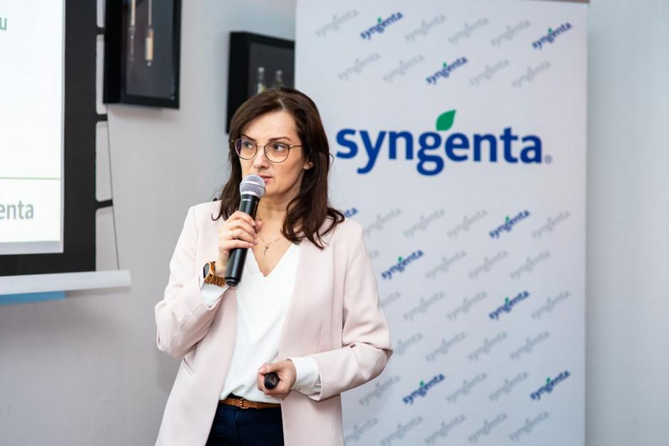 Dorota Mazurek przedstawiła ofertę firmy w zakresie rolnictwa cyfrowego, fot. Syngenta