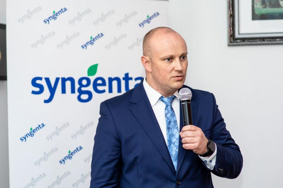 Łukasz Bojkowski omówił środki ochrony roślin i odpowiedź firmy na wypadające z rynku substancje czynne, fot. Syngenta