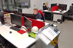 W budynku CBR: biuro konstruktorskie...