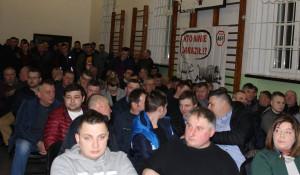 Sala gimnastyczna ZSR w Wolborzu pękała wczoraj w szwach