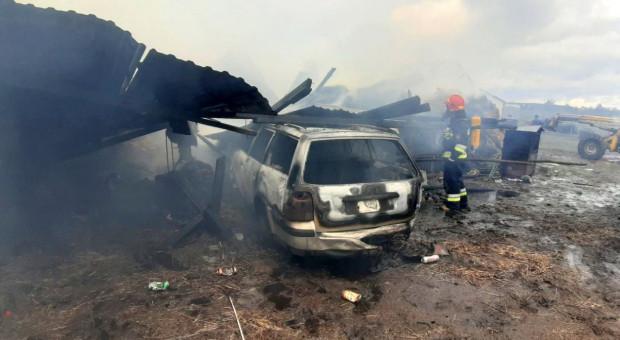 Płonęły budynki i samochód - żywcem spłonęły konie [Foto]