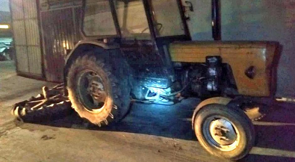 Mołdawianin ukradł traktor i pojechał nim po alkohol