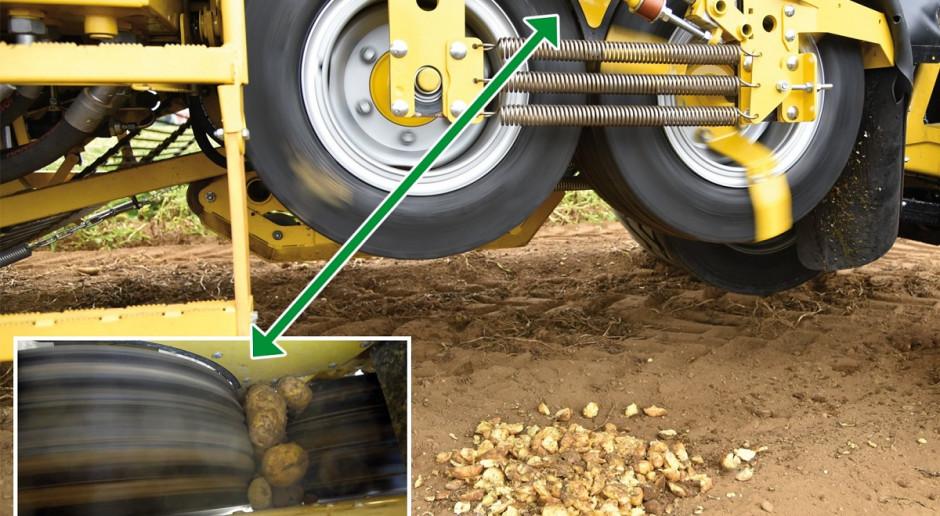 Urządzenie do zgniatania ziemniaków w kombajnie Ropa Keiler 2