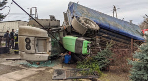 Kolizje i wypadki z udziałem maszyn rolniczych