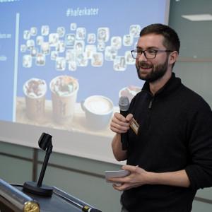 Leandro Burgete z Berlina, który jest dyrektorem zarządzającym HAFERKATER Fot. C.H.