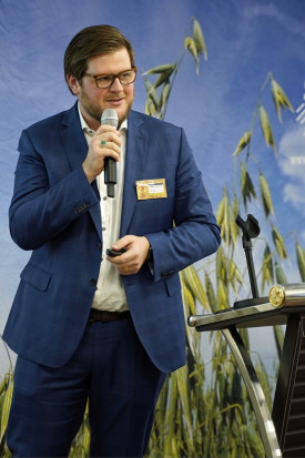 Matthias Hannsbauer z szwajcarskiej firmy Bühler AG Fot. C.H.