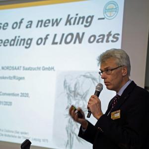 Dr Steffen Beuch, hodowca owsa z Nordsaat, udziałowca SAATEN-UNION Fot. C. H.