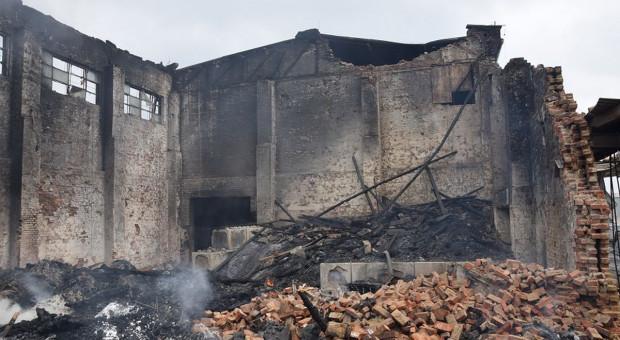 Postawiono zarzuty po pożarze magazynów w byłej Cukrowni Jawor