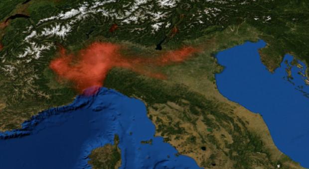 Obniżenie poziomu NO2 w północnych Włoszech