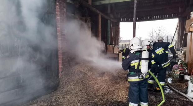 Płonęła stodoła pod Olesnem