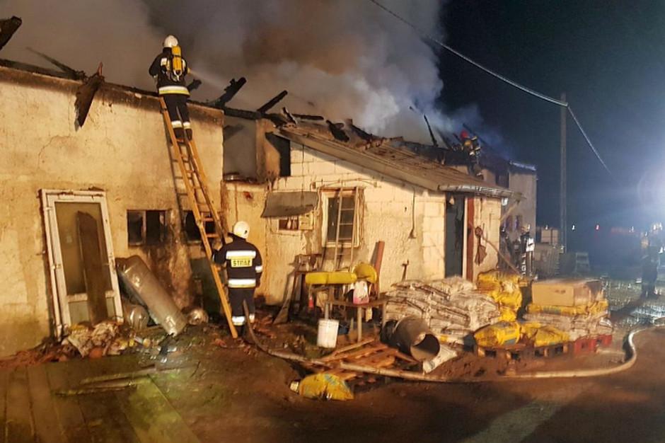 We wsi Jagoty pod Lidzbarkiem Warmińskim spaliła się stodoła, Foto: KP PSP Lidzbark Warmiński