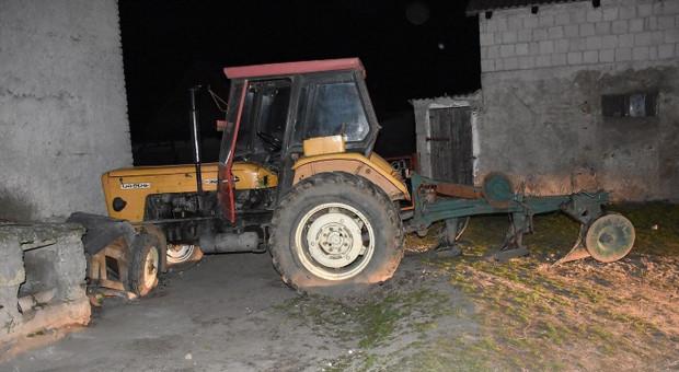 Rolnika najechał własny traktor