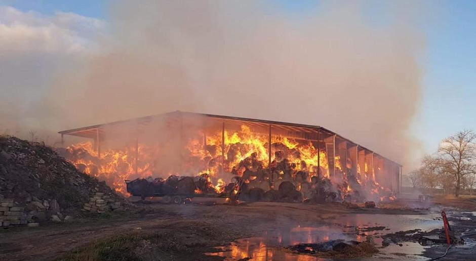 Wielki pożar w gorzelni pod Słupskiem