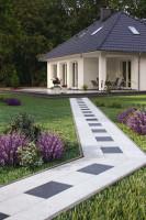 Wśród podstawowych kwestii wpływających na przeznaczenie danego materiału na  nawierzchnie wokół domu należy wymienić jego grubość, długość i szerokość. Foto. DASAG