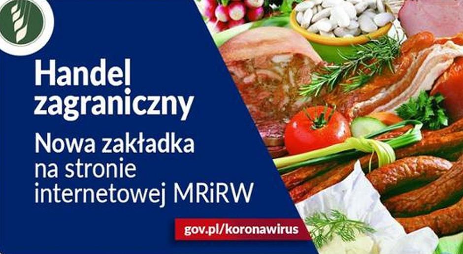 Nowa zakładka na stronie internetowej MRiRW dot. eksportu polskich produktów