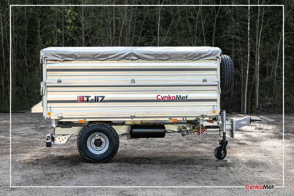 Przyczepa z serii T-117 o oznaczeniu T-117/2, ładowności 5300 kilogramów i pojemności ładunkowej 7,2 m3