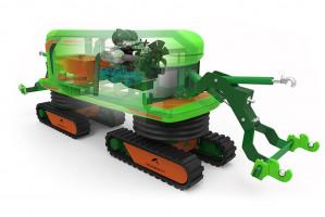 Agrirobot zapewnia bezobsługowy oprysk o dowolnej porze dnia i nocy pozwala zaoszczędzić plantatorowi znaczną ilość czasu. Można zaprogramować robota tak, by wykonał oprysk w nocy, kiedy są optymalne warunki atmosferyczne (temperatura, wilgotność, siła wiatru). Foto. Agrirobot