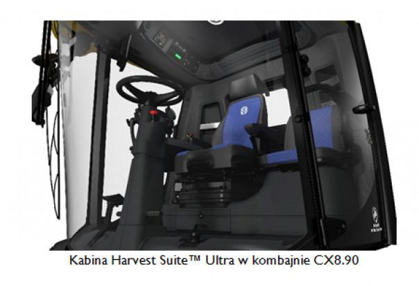 Kabina Harvest Suite™ Ultra w kombajnie CX8.90