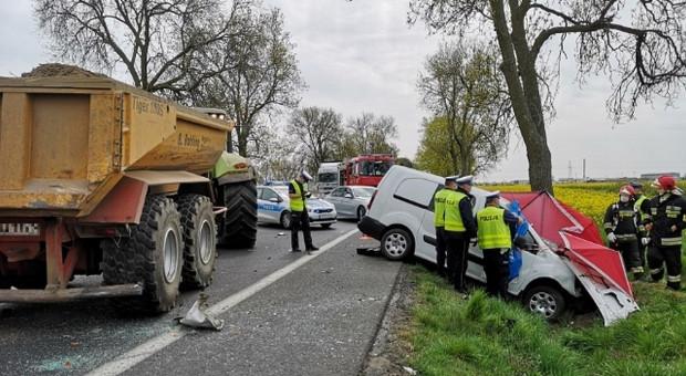 Śmiertelny wypadek z udziałem ciągnika rolniczego