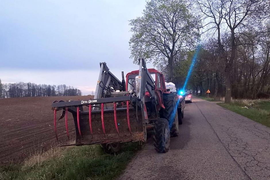 Traktorzysta pod wpływem alkoholu potrącił rowerzystę, Foto: Policja