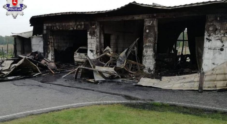 Pożar budynku gospodarczego pod Puławami - duże straty