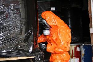 Łącznie zabezpieczono około 1,5 mln litrów toksycznych odpadów, Foto: Policja