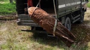 Saperzy przez 4 dni wywozili znalezione niewybuchy, Foto: Nadleśnictwo Mińsk