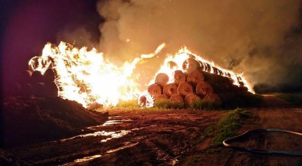 Płonie sterta za stertą - policja tropi podpalaczy słomy