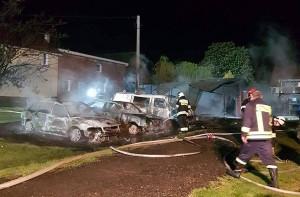 Z pożarem walczyły trzy zastępy strażaków
