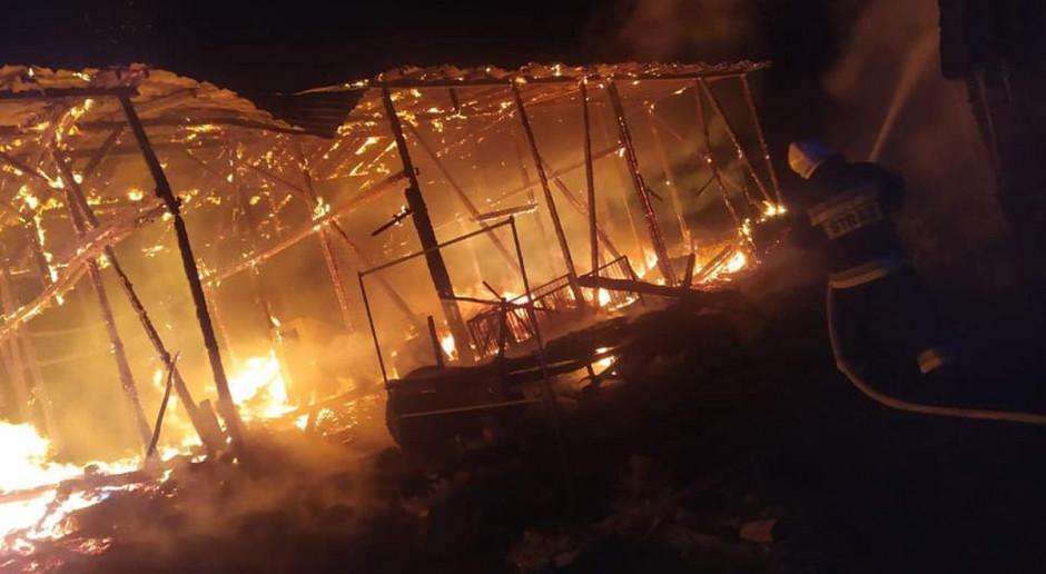 Złapano podpalacza, który puścił z dymem stodołę
