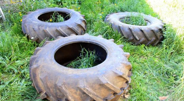 Złodzieje chcieli ukraść opony od maszyn rolniczych