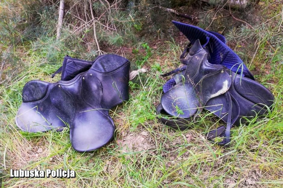 Łupem złodzieja padły m.in. siodła do jazdy konnej, zdjęcia: Policja