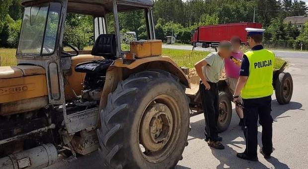 Pijany jechał ciągnikiem do pracy w lesie