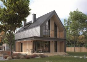 Projekt domu w stylu stodoły MALUTKI 2,  Studio projektowe Dom w Stylu