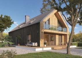 Projekt domu w stylu stodoły POGODNY 2; Studio projektowe Dom w Stylu
